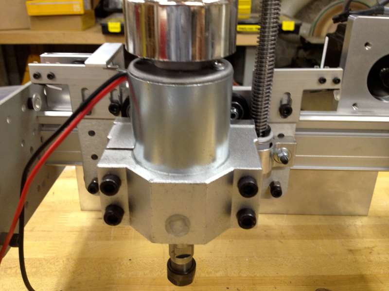 Spindle mounted